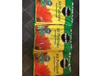 3 bags of Miracle-Gro all purpose enriched compost more than half retail price