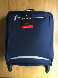 Brand New Navy Light Weight Carry On Suitcase
