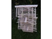 Vintage hand made wooden bird cage for sale