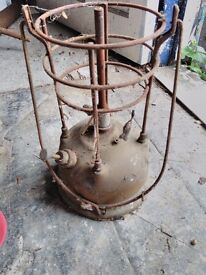 old brass outdoor clamp