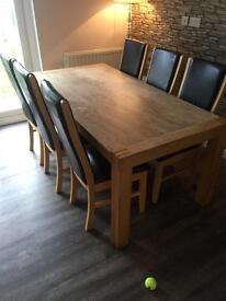 6 seat dining table with marble top