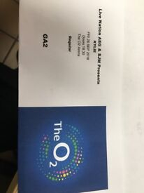2 tickets to see Kylie Minogue at the O2 on 28/09/2018