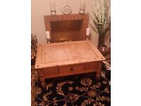2 drawer wooden coffee table