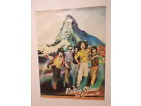 Vinyl Records Rolling Stones 1978 Original Poster