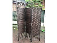 New Wicker Divider / Separator /Privacy Screen / Screen Room Divider - Good Condition - Reduced