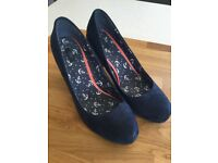 Ladies Next navy suede effect shoes size 8