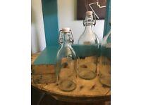 1/2 litre glass bottles x2