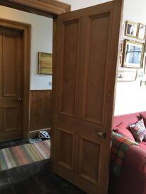 Victorian Antique Pine Wooden door.