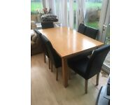 Dining table & 6 chairs - solid heavy furniture!!!