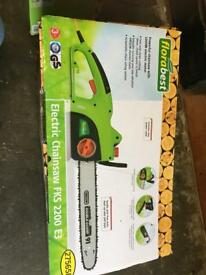 Chainsaw electric & sharpener brand new