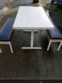 Table with 2 bench seats