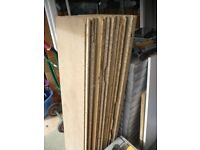 Used loft boards 4 ft x 1 ft some with damaged edges but ok for storing goods in the loft.
