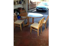 Dining room table and 4 chairs £40 *offers considered*