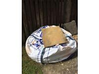Half bag of builder sand and 15 slabs free to collect