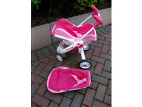 "Children's dolls buggy / pram & carry seat. ""Quinny"""