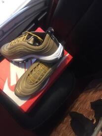 Brand new air max 97s gold with boxes