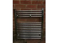 Towel Radiator, including valves. 600 wide, 700 high. New condition as hardly used.