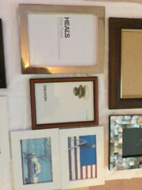 A GREAT SELECTION OF PHOTO FRAMES VARIOUS SIZES