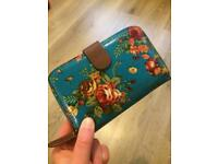 Pretty turquoise floral purse