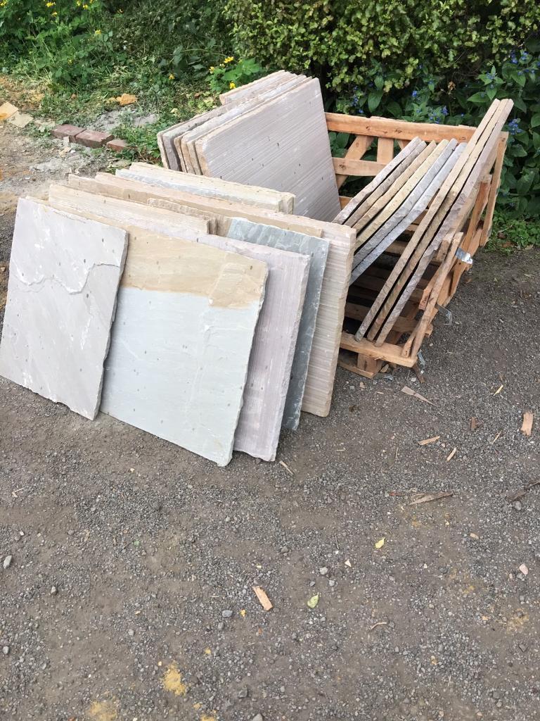 Patio slabs buff indian sandstone
