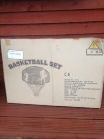 Unopened basket ball set