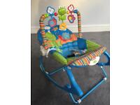 Fisher Price infant to toddler vibrating rocker chair