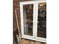 French patio door in excellent condition H 199cm W 212