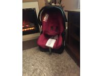 Child's car seat with base payed £130 asking £45ono