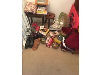 Bundle job lot furniture DVDs household car boot resale clothes