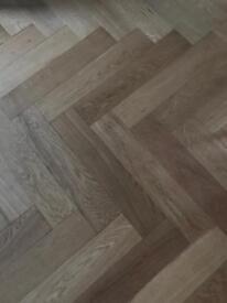 B and Q oak parquet floor - left overs