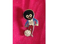 An Original Robertsons Golly Footballer Badge/Brooch with White Ball - J R GAUNT c1950s