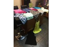 FREE DELIVERY BUNDLE WOMENS LADIES SIZE 8 CLOTHES / AGE 15-16 YEARS SUMMER TOP BLOUSE TUNIC SHIRT