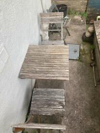 FREE wooden garden table and chairs