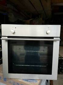 Oven electric silver built in