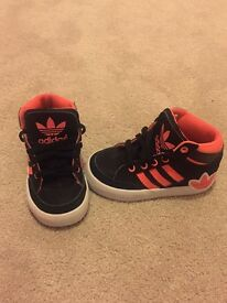 Kids size 5.5 adidas trainers