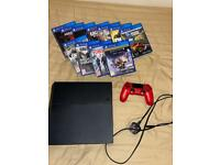 Playstation 4 Console with Controller and games