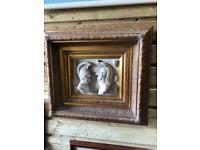Beautiful framed marble sculpted picture
