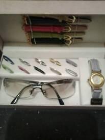 Brand new gino milano watch and glasses set