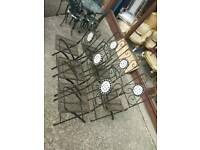 6x Iron Garden Chairs