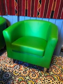 Green leathers chairs new condition