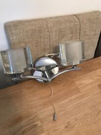 Silver Wall light with glass lamps from NEXT