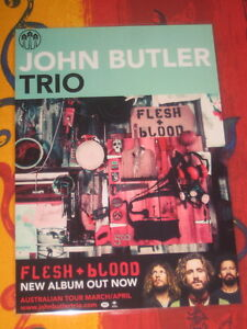 JOHN BUTLER TRIO - FLESH + BLOOD -  LAMINATED PROMO POSTER