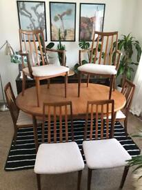 Vintage Gplan Dining Table and Chairs