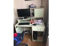 Home computer desk and office chair