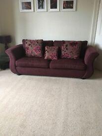 Aubergine large Sofa and armchair