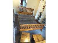 Solid wooden king-size bed