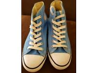 Converse blue mid hi trainers size 4