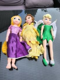 3 x Disney Soft Dolls