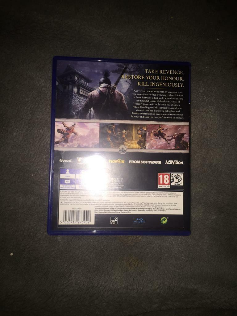 SEKIRO SHADOWS DIE TWICE PS4 GAME (BARELY USED) | in Tilbury, Essex |  Gumtree