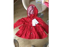Mayoral girls red jacket BNWT